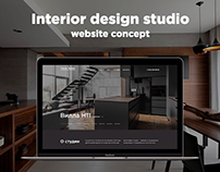 Interior design studio website concept