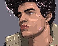 Adobe DRAW : Unknown portrait series - Clark