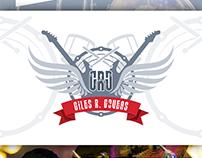 Giles R. Goveas - Drummer Logo