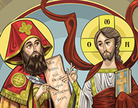 Our lord and St. Cyril of Alexandria
