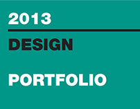 GRAPHIC DESIGN PORTFOLIO 2013