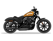 Motorcycle Vector Design