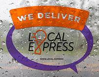 Aufkleber an der Tür Local.express Наклейка на двери
