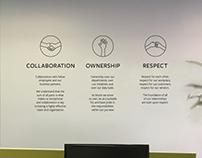 Moshi Core Values Wall