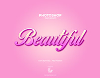 Free Beautiful Photoshop Text Effect