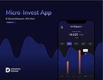 Micro-investing Fintech Mobile App UX/UI