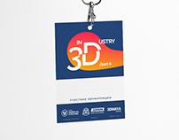 IN3DUSRTY - conference badge