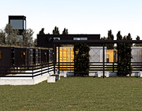 Dog Park and Boarding Kennel Using Shipping Containers