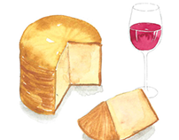 Food and Drink watercolor Illustration