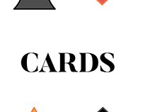 Playing Cards (Bridge Size) - Flat Design, 4 colors