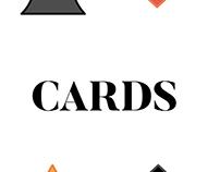 Playing Cards (Bridge Size) - Flat Design, 4 colors