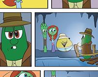 Coloring VeggieTales Super Comics: Minnesota Cuke