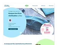 L'atelier de Chloé - landing page mask