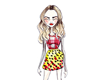 Celebrities style - fashion illustration
