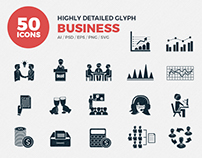 JI-Glyph Business Icons Set