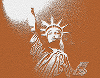 Statue of Liberty drawing with different effects