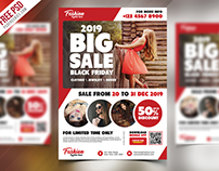 Free Sale Promotional Flyer PSD