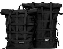Braasi Industry Rolltop backpack BLACK