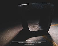 Blocks. Concrete Stool.