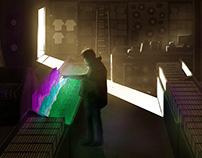 Reggie Watts Runnin' Concept Art