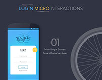 Login Microinteractions