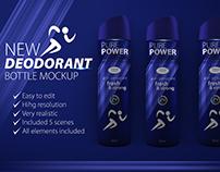 Deodorant bottle mockup and label design