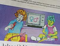 Sunday Times Illustration : Gender Stereotypes