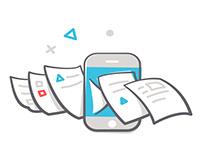 FAX.PLUS - Landing page illustrations