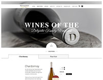 Converting PSD to WordPress for Delgado Family Vineyard