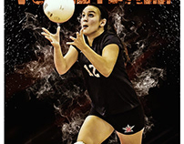 Volleyball sports photography template