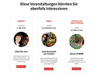Veranstaltungen auf der Website von «aarau info»