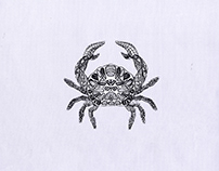 BEAUTIFULLY MELANCHOLY CRAB EMBROIDERY DESIGN
