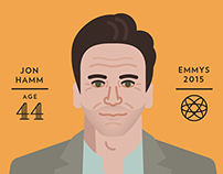 AARP 2015 Emmys Illustrations