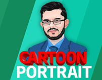 Cartoon Portrait Vector illustration