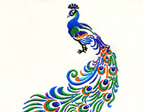 Gorgeous Peacocks Embroidery Designs