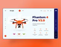 Dronjai UI design concept