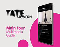 Tate Modern Main Tour multimedia guide | UI/UX