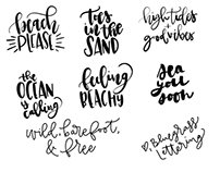 FREE Ocean Vibes Lettering