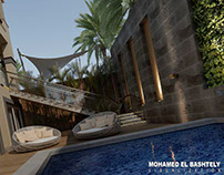 private villa exterior-new cairo (3d visualization)