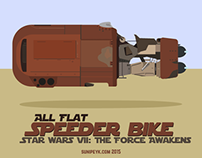 Star Wars 7 Speeder Bike icon, poster