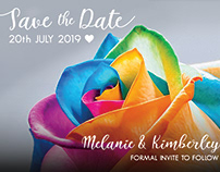 Rainbow Wedding Stationary