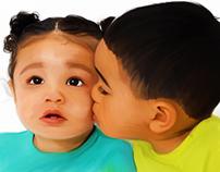 Digital Painting - Brotherly Love