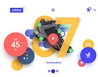 Screen Play Adidas - UI design.