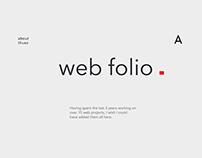 Web Folio - 2016 to 2017 Portfolio of Web Design