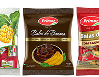 Banana candy chews Primor packaging