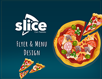 Slice pizza restaurant Flyer & Menu Design