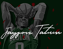 Jayson Tatum: Editorial Illustration
