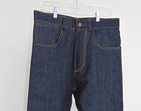 """Garment: Straight-leg """"Selvedge"""" Jeans in Denim"""