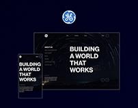 General Electric — Website redesign