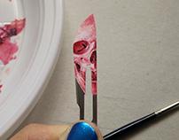 Scalpel Blade Skull